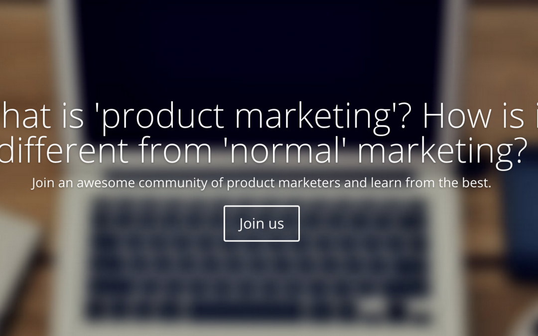 Why I started the Product Marketing Summit