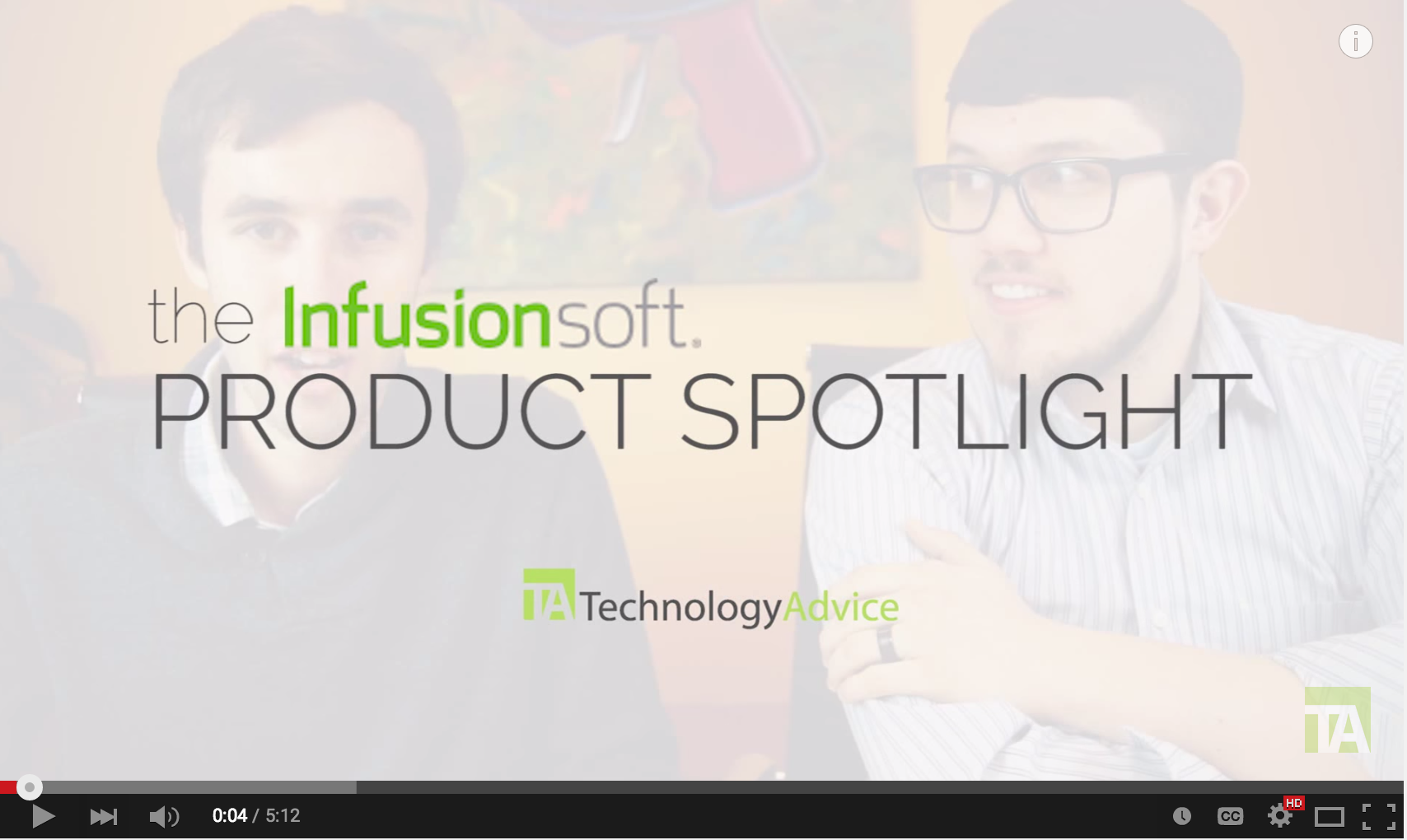 Interview – Infusionsoft Product Spotlight (TechnologyAdvice)