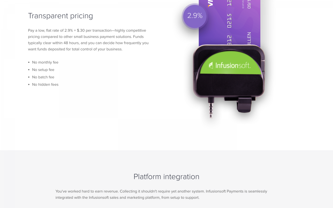 Infusionsoft Mobile Payments Page Creation