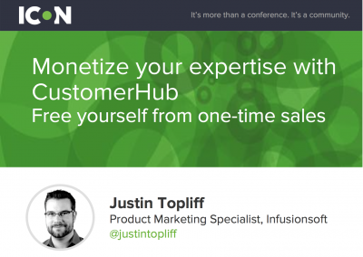 ICON15 – Free Yourself From One-Time Sales