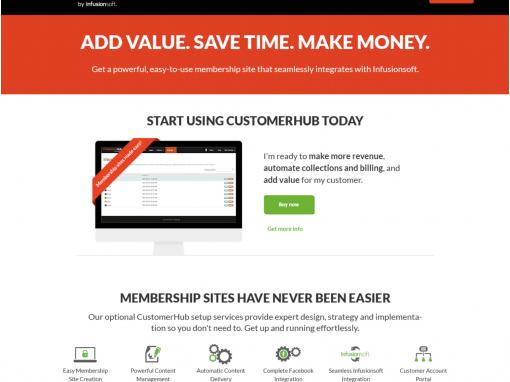 CustomerHub 'self checkout' capability & experience