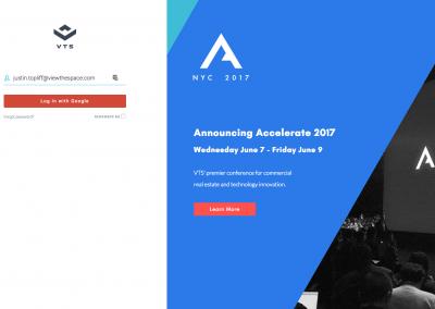 VTS login page – Accelerate 2017 Promotion