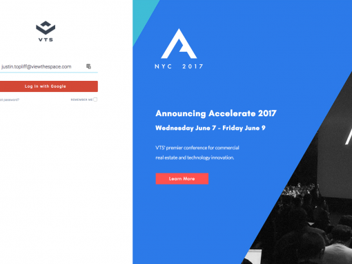 VTS login page – Accelerate 2017 Promotion