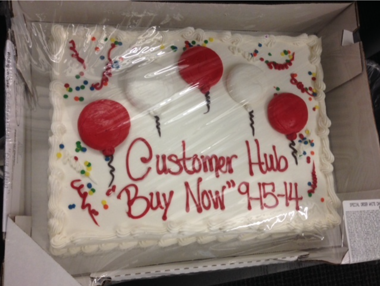 justin topliff customerhub cake