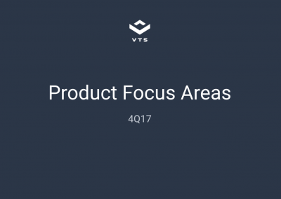 VTS Product Roadmap – 4Q17